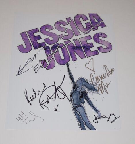 Jessica Jones Cast Signed 11x14 Photo x6 Krysten Ritter Carrie Anne Moss COA