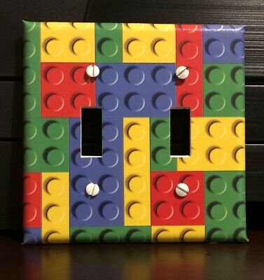 LEGO PIECES LIGHT SWITCH COVER PLATES OUTLET RED BLUE YELLOW GREEN FREE