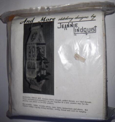 Vtg New Hanging Shelf Kit Wood & Pulled Thread Needlecraft by Jeannie Lindquist