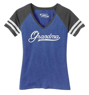 Ladies Grandma Since 2017 Shirt Cute New Baby Gift For Grandmother Game V-Neck - Since Games
