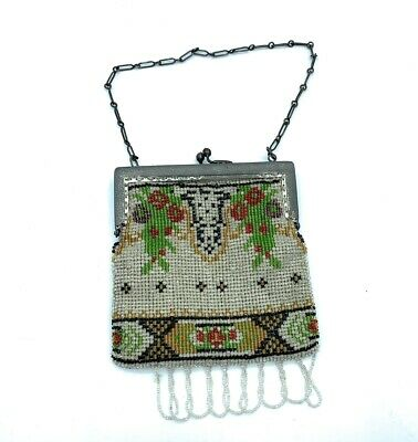 1920s Style Purses, Flapper Bags, Handbags Antique Art Deco 1920's Bead Flapper Purse $175.00 AT vintagedancer.com