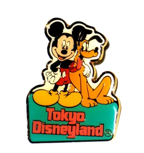 Retired Disney Pin✿Mickey Pal Pluto Dog Friends Green Banner Tokyo Disneyland