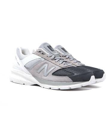 New Balance M990 Made in USA Stone Grey With White Suede Trainers