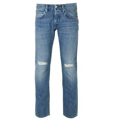 Edwin ED-45 Premium Tapered Jeans Kingston Blue Sandpiper Repair Wash Denim W29