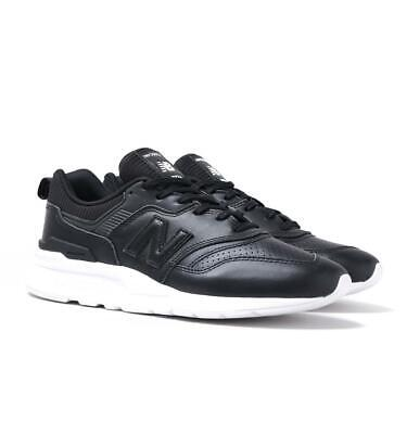 New Balance 997H Classic Running Black Leather Trainers for Men