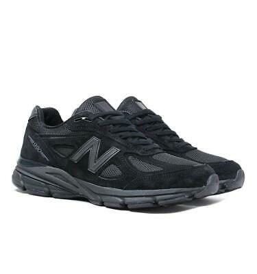 New Balance Made In The US M990 Triple Black Suede Lightweight Trainers for Men