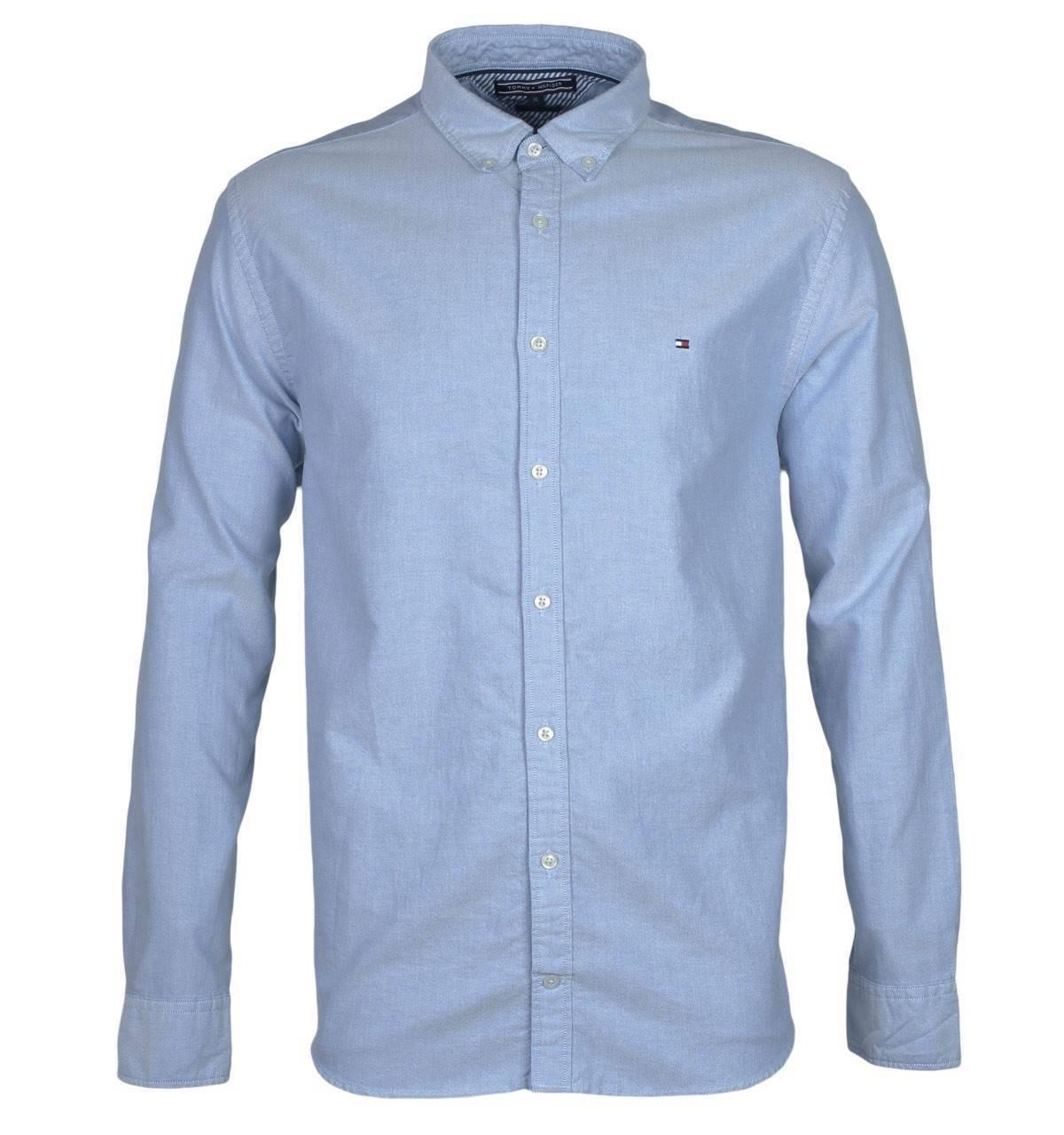 L Tommy Hilfiger Herren Hemd Cotton//Linen Shirt Original Neu mit Etikett Größe