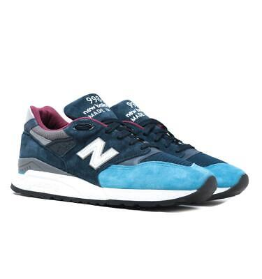 New Balance Made in the USA 998 Blue with Grey Suede Trainers for Men