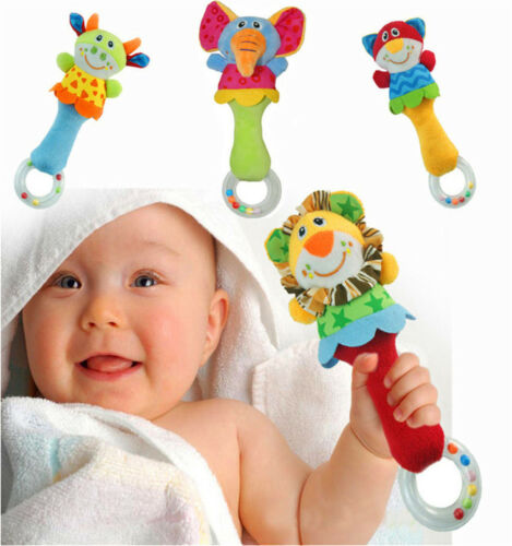 $7.29 - Animal Handbells Developmental Toy Bed Bells Infant Kids Baby Soft Toys Rattle
