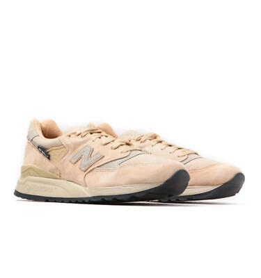 New Balance Made in USA 998 Beige & Grey Detail Suede Trainers