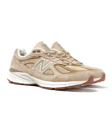 New Balance M990 Made in USA Tan Brown Suede Trainers for Men