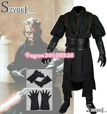 Star Wars Sith Dark Lord Darth Maul Cosplay Costume Tunic Outfit Suit - Sith Outfit