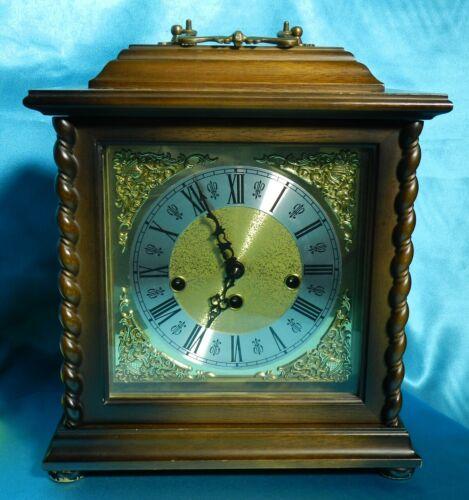 Vintage Howard Miller Mantle Clock Key Wind 340-020 Rare Cabinet VT3350