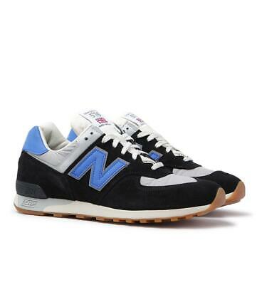 New Balance Made In England M576 Black & Blue Suede Trainers for Men