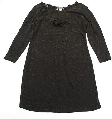 Casual Gold Dress (new HOT & DELICIOUS #DR745 Women's Size L Casual Gold Sparkly Black Shift)