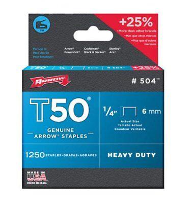 """Arrow T50 Staples 1/4"""" - 1 case of 10"""