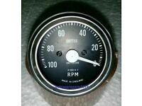 Smiths Tachometer 60 mm fitment M12x1 thread Replica 4:1 Anti Clock Wise