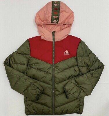 Kappa 222 BANDA DRETO Jacket Green Red Pepper Pink - Free Shipping