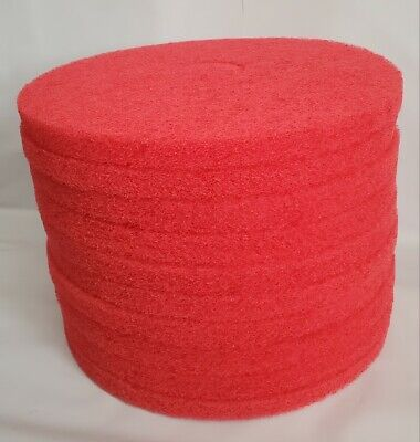 Acs Etc Floor Machine Daily Cleaning Buffing Pads 16 Type 51 Red 10case