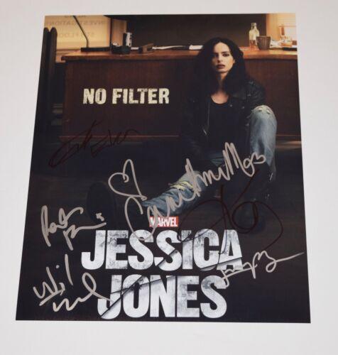Jessica Jones Cast Signed 11x14 Photo x6 Krysten Ritter Carrie Anne Moss Eka COA