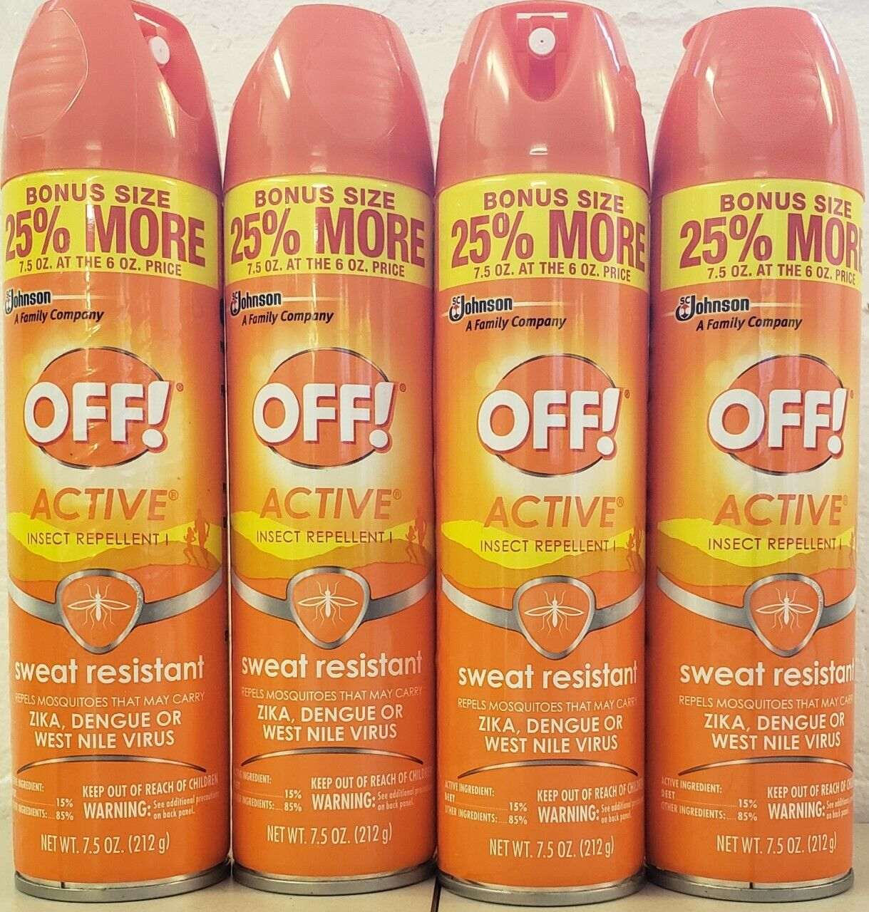 OFF! Active Insect Repellent, Sweat Resistant 6 oz