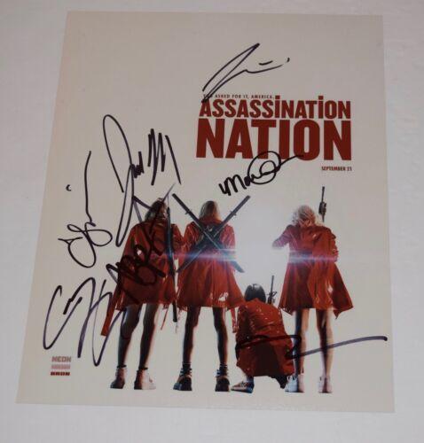 Assassination Nation Cast Signed 11x14 Photo x7 Hari Nef Maude Apatow Abra COA