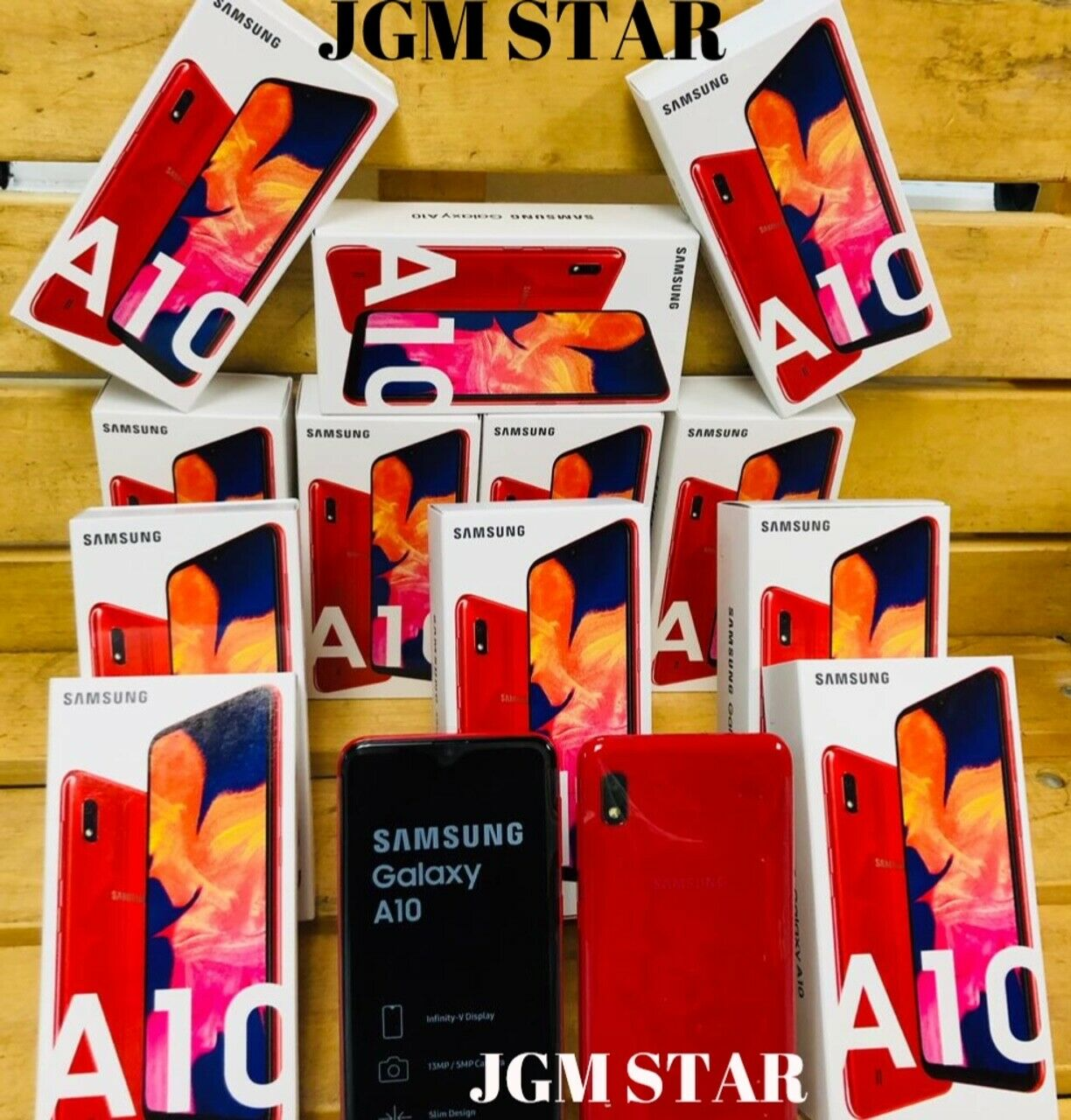 Android Phone - SAMSUNG GALAXY A10 32GB ( A105 ) RED FACT UNLOCKED 6.2 INCH LCD NEW 2019 STYLE