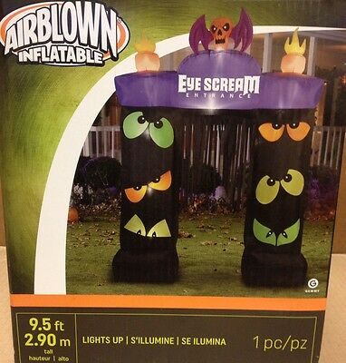 Eye Scream Blinking Eyes Archway Airblown Inflatable Gemmy Halloween Yard - Halloween Inflatable Archway