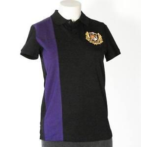 Ralph lauren golf polo shirt black purple womens small s for Black ralph lauren shirt purple horse