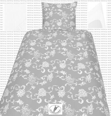 SatinBettwäsche135x200 80x80 und Spannbettlaken Jersey 100% Baumwolle Gnw Paisly