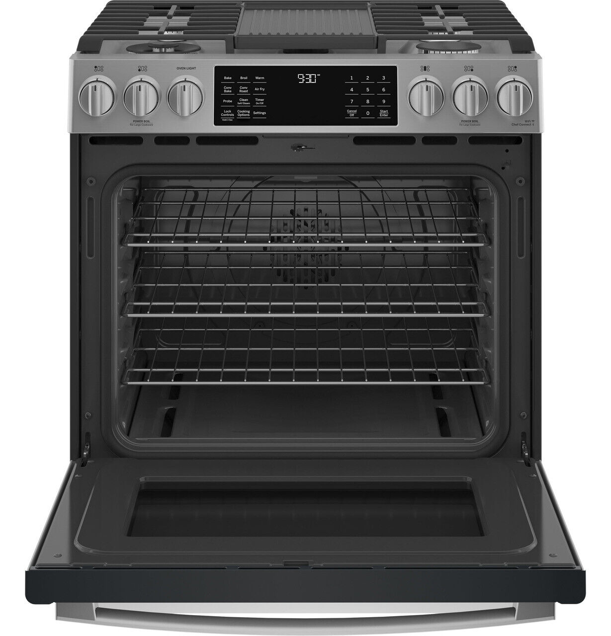GE Profile PGS930YPFS 30 Inch Slide-In Gas Range With Air Fry In Stainless Steel - $2,499.99
