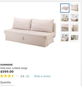 Almost brand new sofa bed