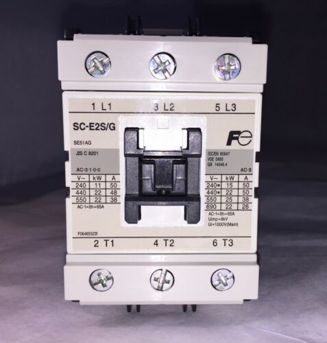 Brand New In Box!!! Fuji Electric Magnetic Contactor (#SC-E2S/G-24VDC)
