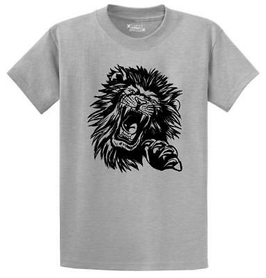 - Mens Lion Face T-Shirt Animal Graphic Tee Shirt