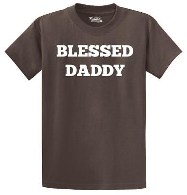 Mens Blessed Daddy T-Shirt Fathers Day Husband Shirt - Blessed Day