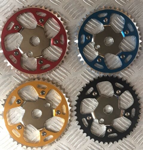 """Alloy/Steel Sprocket 44T 1/2""""x1/8 Bicycle Chainring BMX Cruiser Bike 4 Colors"""