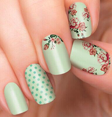 "RARE! INCOCO Color Street ""Flora Destiny"" Polish Strips Mint Spring Floral"