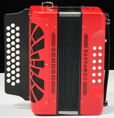 Hohner Compadre Accordion w/Gig Bag - Red (F Bb Eb)
