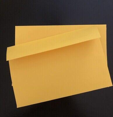50 A9 Invitation Announcement Envelope SQUARE FLAP Yellow 5.75. x 8.75 70LB