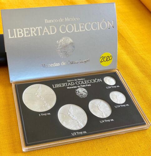 2020 5-piece Silver Mexican BU Libertad Set - Low Mintage!