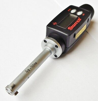 Starrett 38 12 10 12.5 Mm Digital Tri Micrometer 780xtz-500