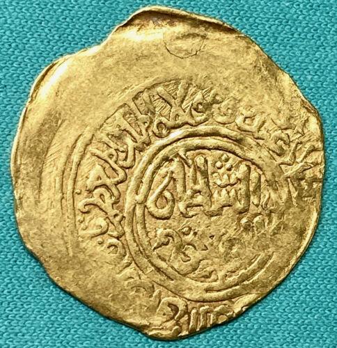 AH 602-12 / 1206-15AD Islamic gold Afghanistan Ghurids Taj al-Din Yildiz AV XF