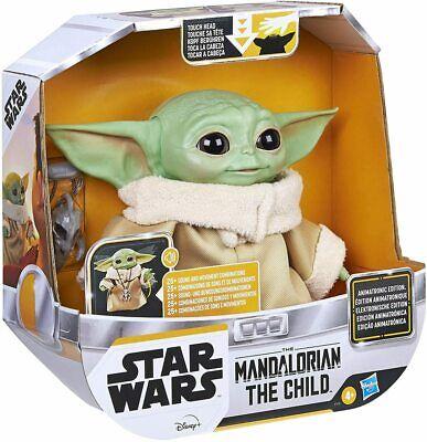 NEW Hasbro Star Wars The Mandalorian The Child Baby Yoda Animatronic Toy Figure