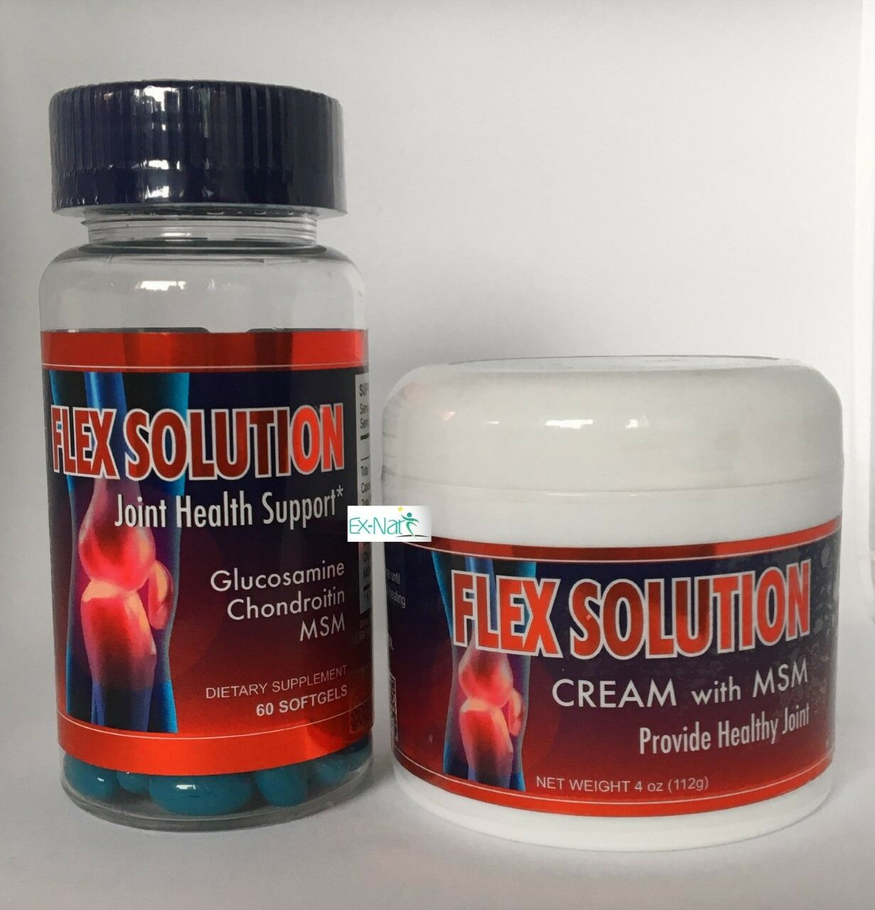 Flex Solution 60 cap and Cream Therapy Anti-Inflammatory dolor Muscle Relief Bee