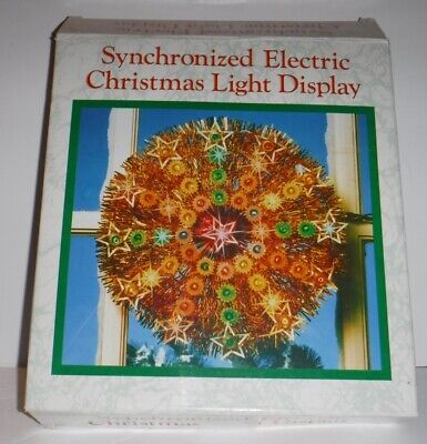 Synchronized Electric Christmas Light Display Hanging Wreath Tree Decoration ()