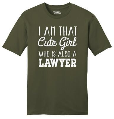 Mens I'm That Cute Girl Also Lawyer Soft Tee Law School College Girlfriend Wife