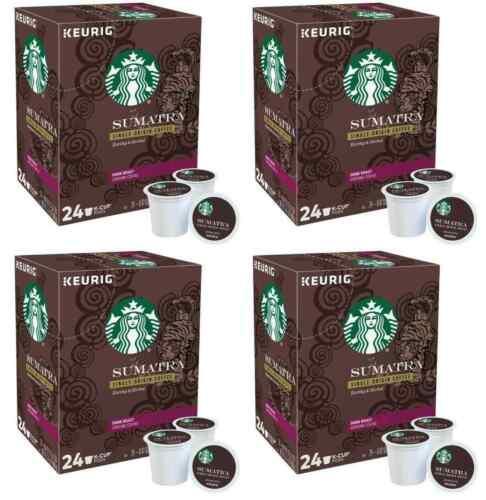 Starbucks Sumatra Coffee Keurig K-Cup Pods Dark Roast_96 Count Best By-NEW SALE!