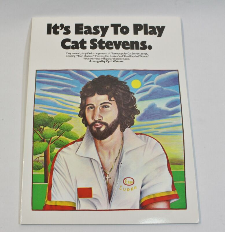 Its Easy to Play Cat Stevens Rock Sheet Music Song Book Notes Piano Guitar