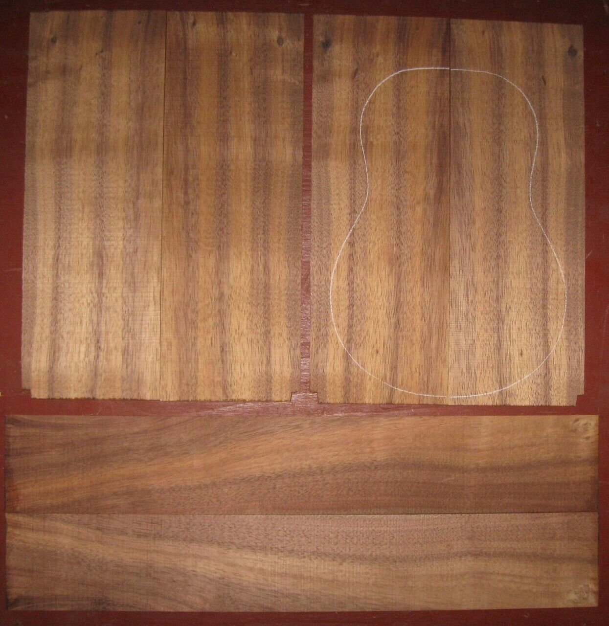 Hawaiian Koa Tenor Uke Set Ukulele Wood - Luthier Tonewood - $72.00