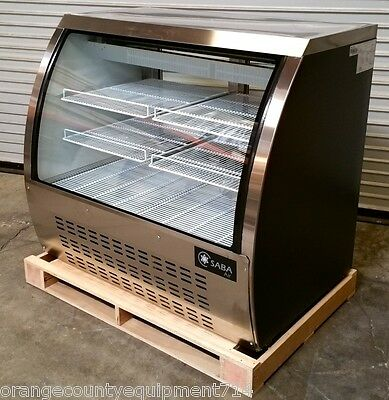 New 47 Curved Glass Bakery Deli Case Refrigerated Led Saba Scgg-47 4492 Nsf